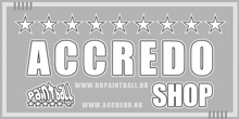 accredo paintball gray logo